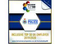 Inclusive Top 50 Employer 2019/2020 logo