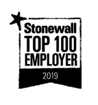 Stonewall Top 100 Employer 2019 logo