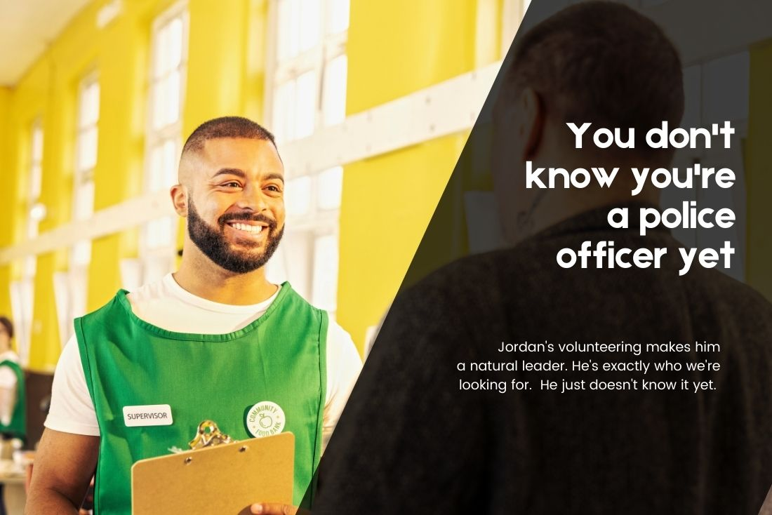 Man volunteering in food bank